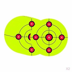 SM SunniMix 20-Pack Fluorescent Green Target Sticker Self Adhesive Targets for Shooting