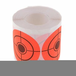 Turbobm 250 pièces de Papier de tir, 5 cm / 2″Rouleau d'autocollant Cible Rouleau de Papier de tir Auto-adhésif Cible Rouleau Orange Fluorescent