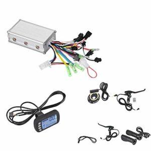 Wakects Kit de contrôleur de Moteur sans balais, Frein de Papillon de réglage de la Vitesse du Panneau LCD pour Scooter de vélo électrique pour vélo électrique