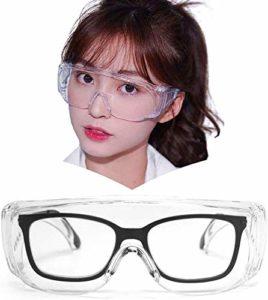 YRRC Lunettes de sécurité médicale, JO surdimensionné Frame Goggle Transparent Fit-Over Lunettes pour Non-Prescription, Anti-buée pour la Conduite et activités en Plein air