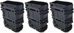 Airsoft magic 3 x Plastic Molle Magazine Pouch for AEG M4 M16 Airsoft – Black