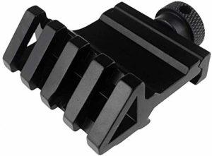 Airsoft magic Metal 45 Degree See Through Offset Rail Mount for 20mm Rail – Black