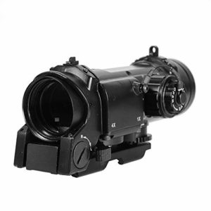 Big Dragon Airsoft Optic Airsoft ELCAN Spectre 1x-4x Illuminated Red/Green Dot Adjustable with Anti-Glare Lenses, Metal (Black)