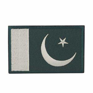 Cobra Tactical Solutions Drapeau Pakistan Ecusson Brodé Patch Tactique Moral Militaire Applique Emblème Insignes Fastener à Crochet et Boucle Airsoft Paintball Cosplay