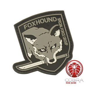 Cobra Tactical Solutions Foxhound Special Force Group Ecusson PVC Patch Tactique Moral Militaire Applique Emblème Insignes Fastener à Crochet et Boucle Airsoft Paintball Cosplay