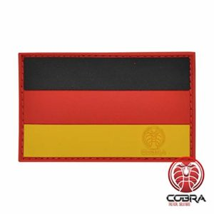 Cobra Tactical Solutions Military Patch en PVC Drapeau de la allemand/German Flag avec Fermeture Velcro pour Airsoft/Paintball pour vêtements Tactiques et Sac à Dos