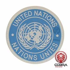 Cobra Tactical Solutions Military Patch en PVC Nations Unies/United Nations/UN PVC Patch avec Fermeture Velcro pour Airsoft/Paintball pour vêtements Tactiques et Sac à Dos