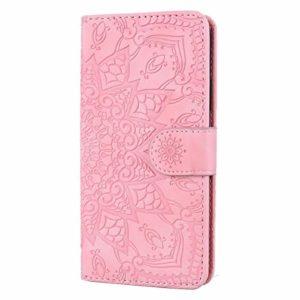 Coque iPhone 11 Porte-Cartes [Béquille] [Fentes pour Cartes] [Fermoir Magnétique] Étui à Rabat Housse en Cuir pour Apple iPhone 11 2019 – TTHF010034 Rose