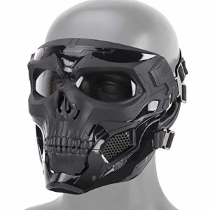 DETECH Paintball Tactique Casque Crâne Masques Respirant Tir Masques De Chasse Hommes Full Face Airsoft Militaire Halloween Partie Masque