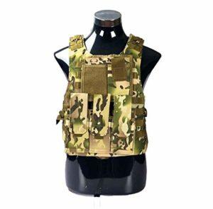 Gilet Tactique Veste Tactique for La Plaque De Combat Assault Molle Militaire Porte-Veste Tactique CS Outdoor Vêtements Gilet De Chasse (Color : CP, Size : One Size)