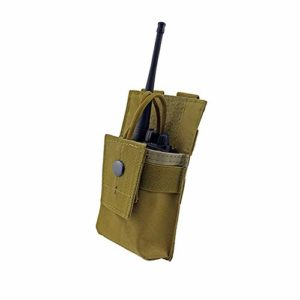 Gilet Tactique Veste Tactique Tactique Radio Automne Halter Holster Holster Talkie-walkie Einstellbare Molle Pouch Open Top Magazin M4 Mag Pouch (Color : Brown, Size : One Size)