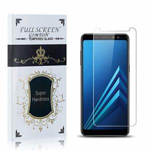 GIMTON Verre Trempé pour Samsung Galaxy A8 2018, Dureté 9H, Ultra Résistant Protection en Verre Trempé Écran, sans Bulles, Installation Facile, 1 Pièces