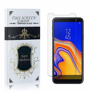 GIMTON Verre Trempé pour Samsung Galaxy J6 Plus, Dureté 9H, Ultra Résistant Protection en Verre Trempé Écran, sans Bulles, Installation Facile, 1 Pièces