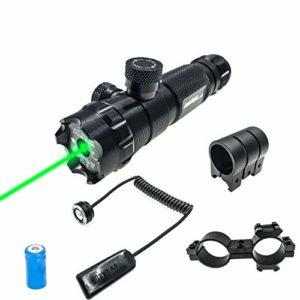Hauska Tactique Viseur Laser Vert Militaire Pointeur Puissant pour Pistolet avec Interrupteur de Pression avec Monture Picatinny Weaver Monture en tonneau