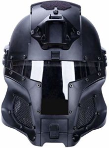 Heemtle Tactique Militaire Airsoft Paintball avec PC Lens Tactical Helmet, Military Ballistic Side Rail NVG Casque, Full-Covered Casque Accessoires pour CS War-Game Shooting