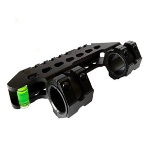 HWZ 30mm 25mm Scope Mount Dual Rings with Bubble Level for 20mm Picatinny (Black)