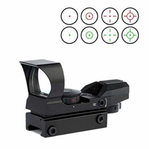 HWZ Reflex Sight Adjustable Reticle (4 Styles) Both Red/Green Sight