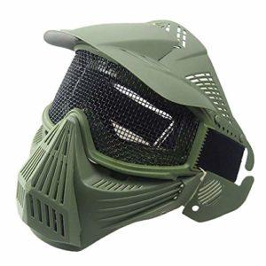 Leoboone Masque de Paintball léger Respirant CS extérieur Militaire Tactique pour Airsoft