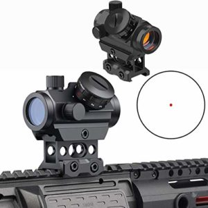 Lunette de visée Red Dot Sight 4 MOA Gun Sight avec Monture de Montage de 1 Pouce
