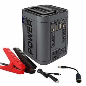 MTSBW Car Jump Starter, 12V Mini Portable Batterie au Lithium Booster avec 110V / 220V Alimentation, alternateur, Super Grande capacité de la Batterie, LED lumière intégrée