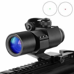 MUJING Holographique Portée Optique de Fusil de Chasse de Vue de Point Rouge avec la Chasse de Pistolet de tireur d'élite de collimateur de Vue de bâti de Rail de 20mm