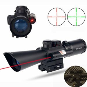 MUJING Tactical 3.5-10×40 Ajustable Dovetail Optics Rifle Scope Fit 11mm Or 20mm Picatinny Rail