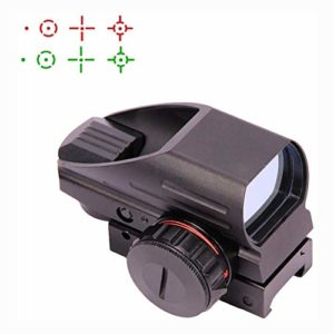 MUJING Tactical Holographic Red Green Reflex Scope Sight 4 Réticules,A