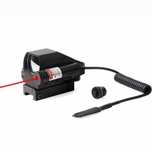 MUJING Tactical Holographic Red Green Reflex Scope Sight 4 Réticules,B