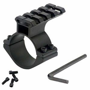 RimFly Rail Picatinny Ring 25mm pour Fusil Airsoft avec Rail 20mm Tube de Montage d'arme Tactique Tisseur Garde-Main Riser Keymod Adaptateur Mire télescopique avec Rail