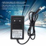 Vbest life Adaptateur de Pistolet de Massage 100-240V Adaptateur de Chargeur de Batterie en Plastique Portable Câble d'alimentation Cordon Chargeur de Batterie(EU Plug 25.2V)