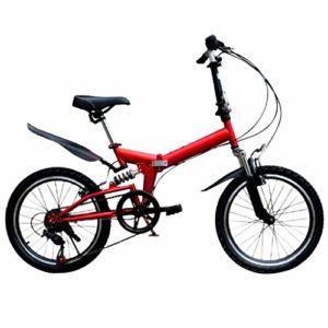 Vélo de montagne léger et pliable – 50,8 cm – Pour adultes et adultes, Rouge, as show