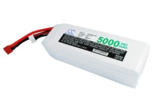 1-Year Warranty JST-XH-2.54 AWG24 5 Cells 18.5V 5000mAh Battery for Airplane, Helicopter, Racing Car, Scale Boat