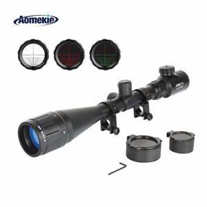 AOMEKIE Lunettes de Visée avec Réticule Lumineux Optique Rouge/Vert Illuminé Réticule Portée du Fusil pour Chasse Tactique