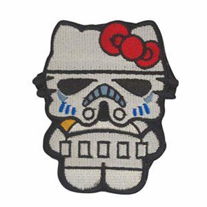Cobra Tactical Solutions Stormtrooper Kitty Superhero and Villains Film Patch brodé avec Velcro pour Airsoft Paintball pour vêtements tactiques
