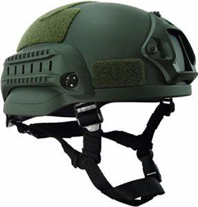 Dbtxwd Casque Tactique MICH-2002 Casque de Combat Rapide, Excellent matériau ABS, Pistolet à air comprimé léger Chasse équipement de Protection de tir,B