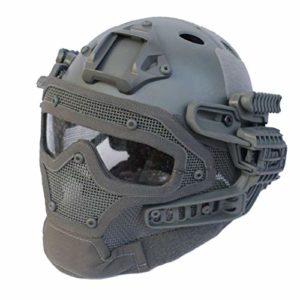 Dbtxwd Casque Tactique Multifonctionnel, système léger intégral ABS G4 / Casque PJ avec Lunettes pour Pistolet à air comprimé Paintball CS Game Riding,A