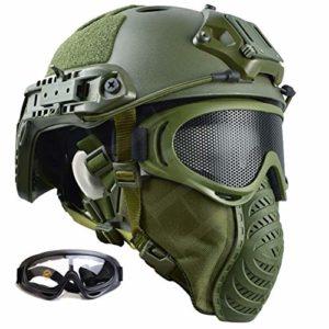 Dbtxwd Casque Tactique PJ Type Casque Rapide de sécurité léger pour Airsoft Paintball CS War Game,B