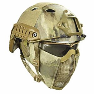 Dbtxwd Casques Tactiques fixés pour CS Airsoft Paintball Army War Game Moto Chasse Airsoft Paintball,A