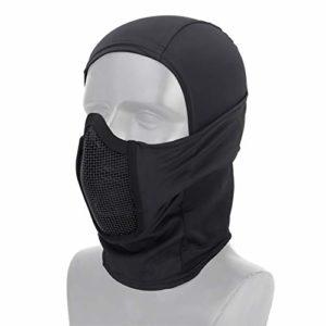 DETECH Tactique Vêtement Respirant Balaclava Maille Masque Visage Complet Airsoft CS Masque Chasse À Vélo Capuche Cache-Cou