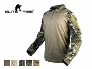 Elite Tribe Emerson Gen3 Combat Chemise Camo pour des Hommes Tactique Hauts Chasse BDU Chemise (Multicam Tropic, Small)