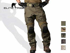 Emerson Gen3 Combat Un Pantalon pour des Hommes Devoir Camo Airsoft Militaire Un Pantalon (Multicam Black, Medium)