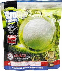 G&G Billes Airsoft blanc biodégradable 0,23 grammes (4350 Billes), paquet de 1 kilogramme