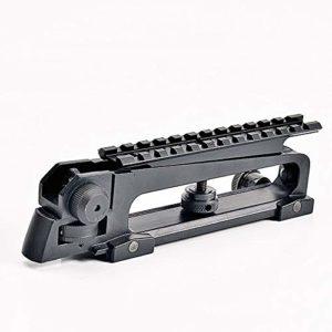 Huenco Poignée de Transport Amovible Tactical 223 M4 M16 Support de Lunette de visée AR15 avec Ouverture Double A2 Rail Picatinny Rail de Rail supérieur Standard 20 mm