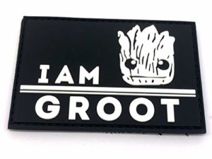 I Am Groot PVC Airsoft Paintball Moral Cosplay Patch (Brillent dans Le Noir)
