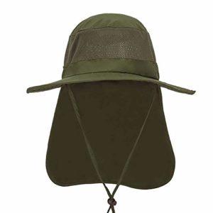 Kebab Chapeau de protection solaire à séchage rapide, protection UV, chapeau de pêcheur, menton réglable, grand avant-toit de pêcheur, a, 58-60 cm
