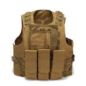 Leic Gilet Tactique extérieur Militaire Gilet de Protection Molle équipement étendu pour CS entraînement Airsoft Paintball Jeu