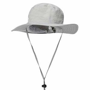 L'été à séchage rapide chapeau hommes et femmes respirant chapeau de pêche écran solaire seau chapeau anti-ultraviolet plage pêcheur chapeau réglable menton, a, 58-60 cm