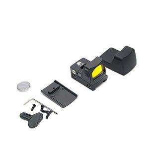 Lofenlli Mini collimateur RMR Sight Red Dot Lunette de visée pour Lunette réflexe Glock/Rifle Fit Rail 20mm