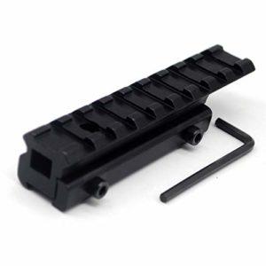 Trirock Neuf Tactique 9emplacements Queue d'aronde Weaver Picatinny Rail Adaptateur étendre 11mm à 20mm Scope Mont Riser