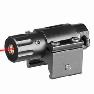 ACEXIER Chasse Mini Pistolet Laser Rouge Tactique pour Pistolets Weaver Mount Chasse Laser Vue Laser Vue Vert